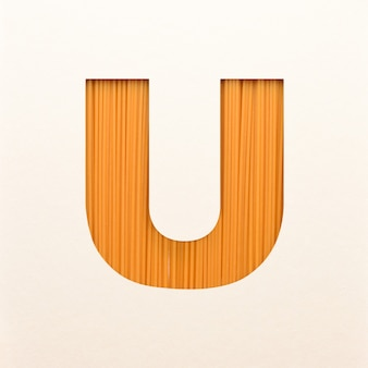 Font design, abstract alphabet font with wood texture, realistic wood typography - u