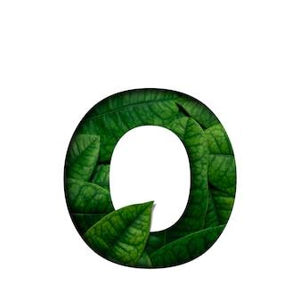 フォントはoプレシャスペーパーカット形状のリアルアライブリーフで作られています。