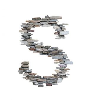 화이트 절연 돌 벽에서 만들려면 s의 글꼴입니다.