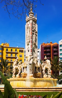 Fontain at luceros square in  alicante, spain
