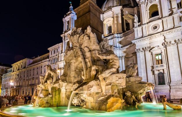 Fontana dei quattro fiumi в риме