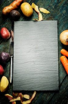 Food background, with fresh vegetables