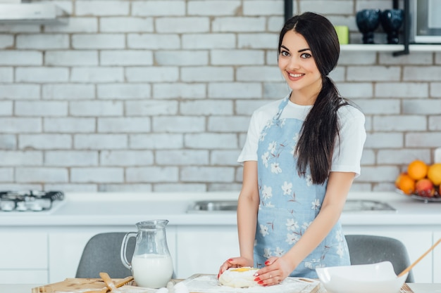 Food blogger will cooking on the home kitchen
