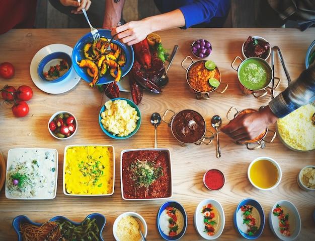 フードケータリング料理料理グルメビュッフェパーティーコンセプト