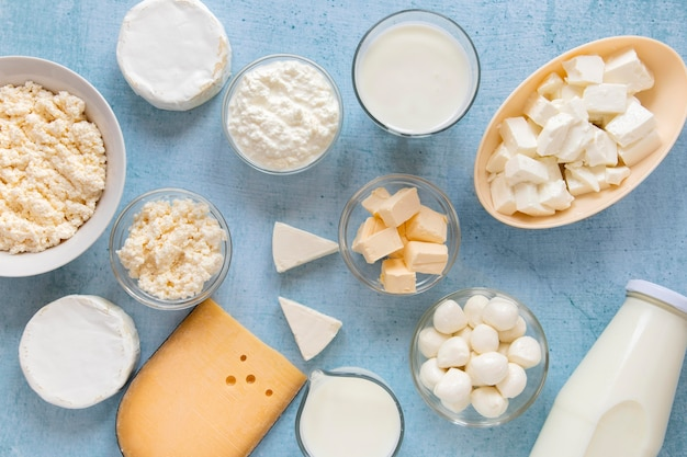 Food composition with dairy products