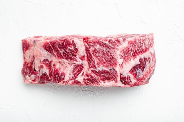 음식 개념 유기 원시 쇠고기 고기 세트
