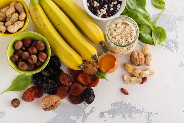 Food containing potassium