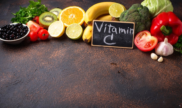 Food containing vitamin c, healthy eating