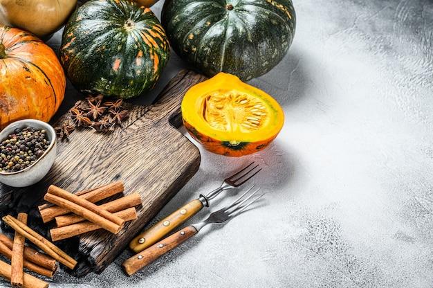 추수 감사절 또는 가을 호박 휴가에 음식 요리 배경