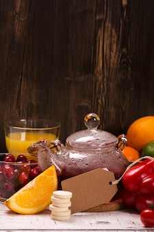 Food and drinks rich of natural vitamin c
