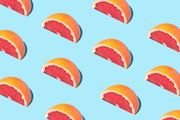 Food fashion food pattern with grapefruits