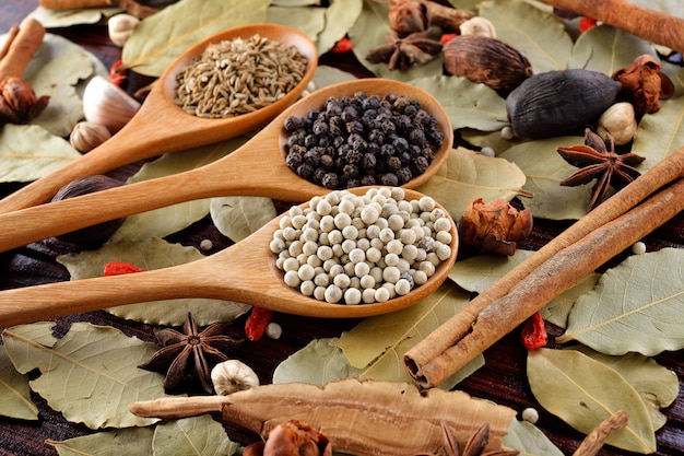 Food ingredients - herbs and spices.