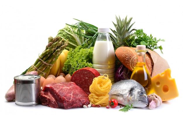 Еда изолирована Premium Фотографии