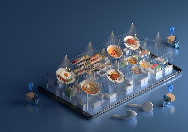 Приложение для смартфона заказ еды.