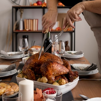 Food preparations for thanksgiving day