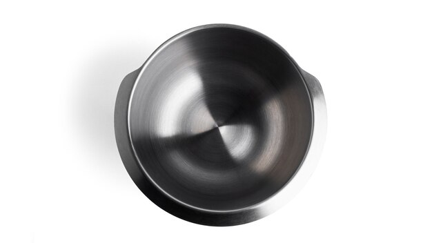 Food processor bowl isolated on a white surface