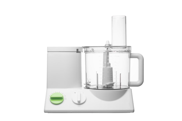 Food processor isolated on white background