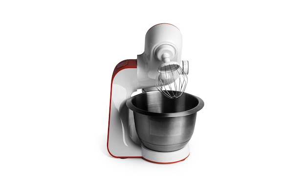 Food processor isolated on a white surface