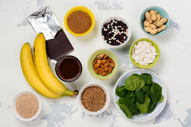 Food rich of magnesium