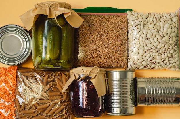 Продовольственные запасы кризисных запасов продовольствия на карантин