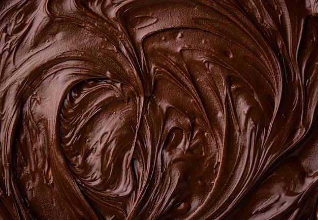 Пищевая текстура растопленного шоколада или спреда
