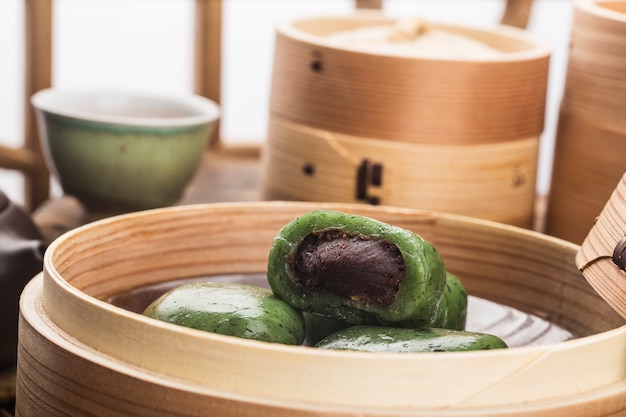 Food of tomb sweeping day festival in china-green dumpling