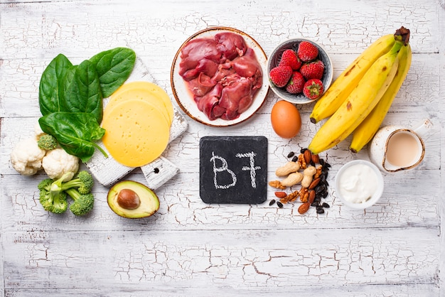 Food which is a natural source of vitamin b7