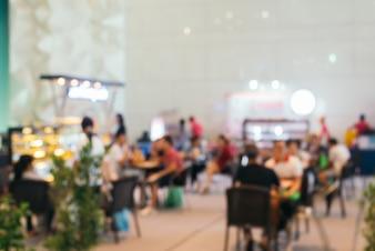 Food white crowd business door