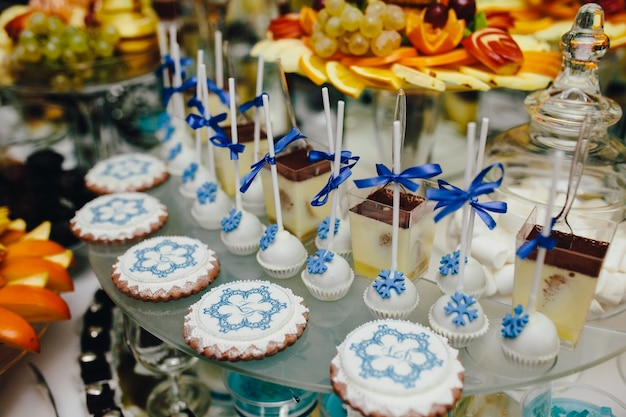 Food with winter motif