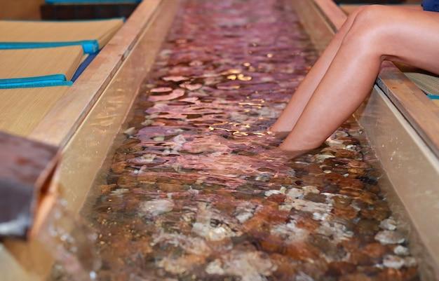 Foot bath at a japanese hot spring.
