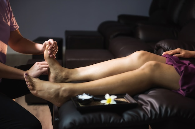 Foot cure thai massage in spa