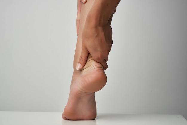 足の怪我健康上の問題マッサージ治療障害