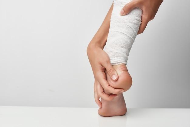 足の怪我の健康問題の薬