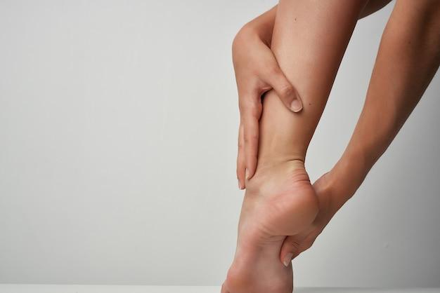 발 부상 마사지 건강 문제 의학 근접 촬영