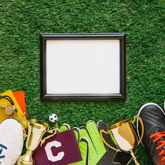 Football background with frame