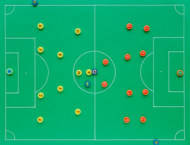 Football background with tactics concept