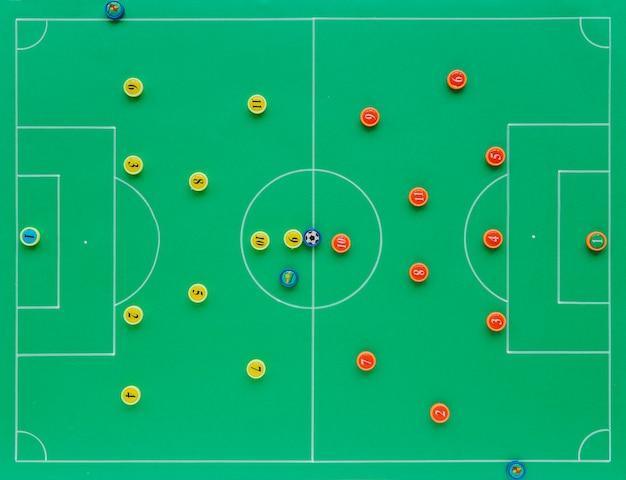 Sfondo di calcio con il concetto di tattiche