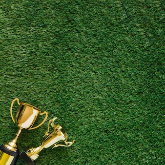 Football background with trophy