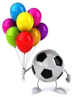 Футбольный мяч - 3d персонаж