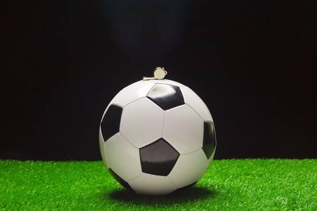 Football ball with whistle