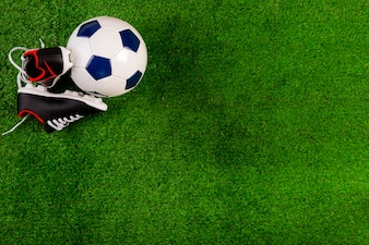 Football composition with ball and copyspace