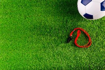 Football composition with copyspace and football