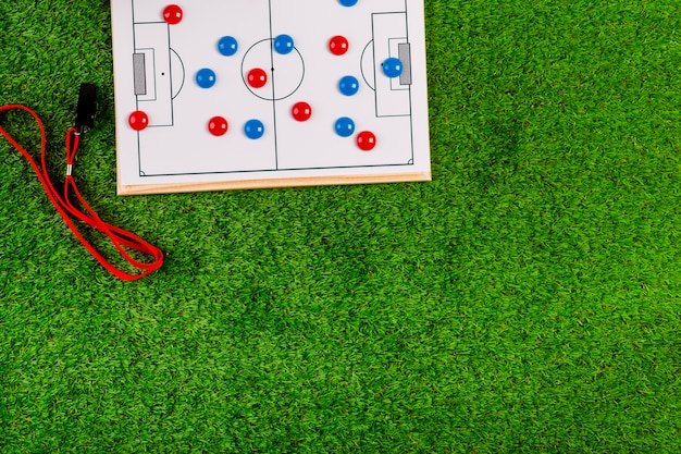 Football composition with copyspace and tactic board