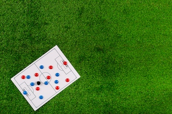 Football composition with copyspace