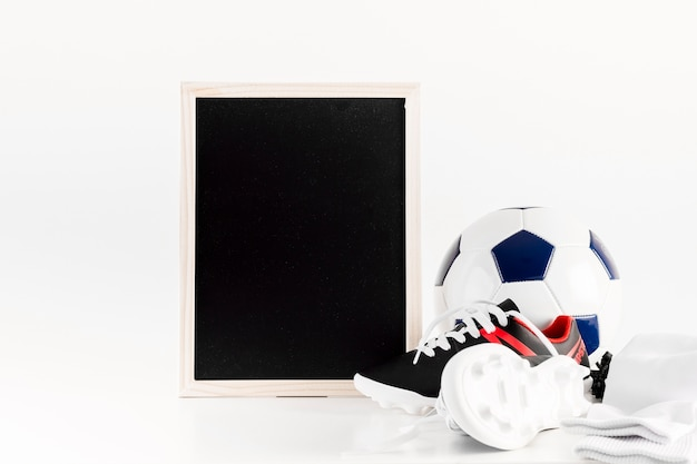 Football composition with leaning slate