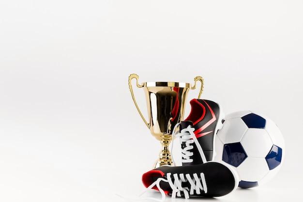 신발 공 및 트로피 축구 구성