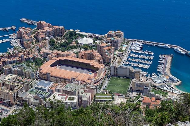Football field in monaco.