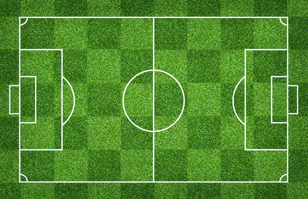 Football field or soccer field for background