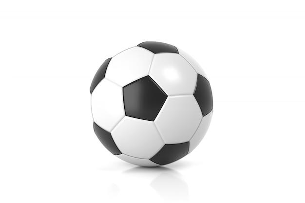 分離されたサッカー。 3dレンダリング。