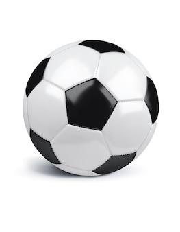 サッカーは白で隔離されます。